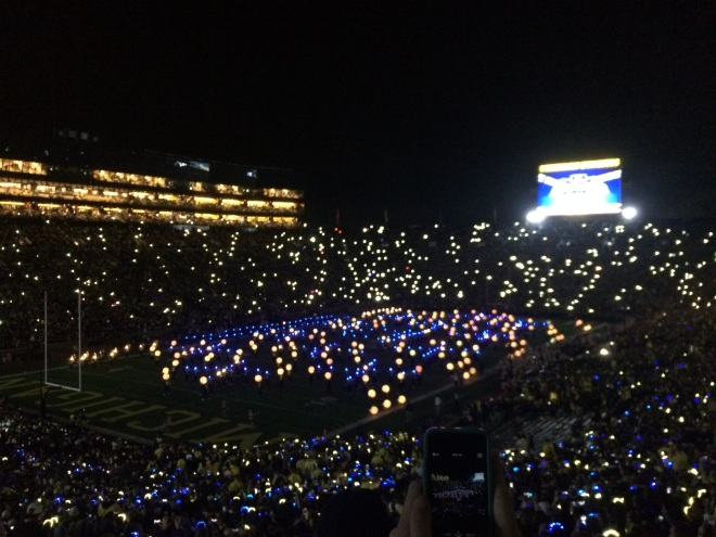 Lights during the half-time show